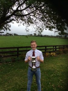 John Andrews winning the Young Handler Cup