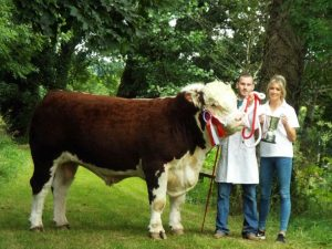 Mulladoopoll 1 Elite owned by Ciaran Kerr Champion Bull of the year 2016