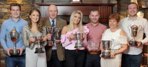 Prize winners with their awards at the Hereford Society annual dinner. Picture: Cliff Donaldson (See Ivan Haire for full caption) The Kerr family from Lurgan.