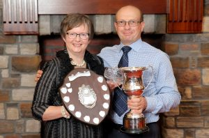 Prize winners with their awards at the Hereford Society annual dinner. Picture: Cliff Donaldson (See Ivan Haire for full caption) Heather and Robert Murdock from Newry with their awards at the Hereford Society annual dinner.