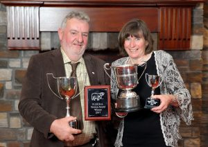 Prize winners with their awards at the Hereford Society annual dinner. Picture: Cliff Donaldson (See Ivan Haire for full caption) John and Agnes Gill from Killinchy with their awards at the Hereford Society annual dinner.