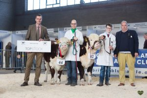Top stock sponsor with Mark Moores Annaghbeg Delilah reserve, Bradley Graham and Richmount 1 Peppermint senior Champion with Judge George Bowen